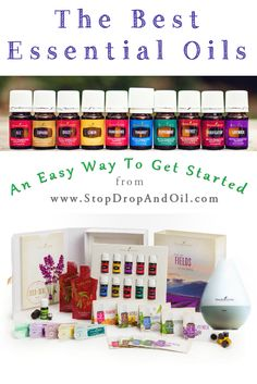 These are the best essential oils!  The premium starter kit makes an easy way to get started - it includes 11 oils and a diffuser.  Enroll here for a free gift. www.StopDropAndOil.com