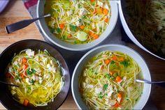 my favorite chicken noodle soup, smitten kitchen Kitchen Recipes, Soup Recipes, Cooking Recipes, Healthy Recipes, Chili Recipes, Healthy Food, Recipies, Dinner Recipes, Tomato Tortellini Soup