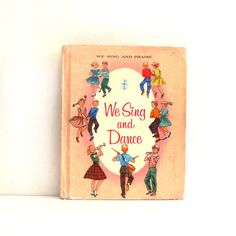 Vintage 1950s Childrens Book We Sing and Dance  Sheet by ismoyo, $10.00