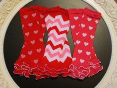 Valentine's Day Ruffled Leg Warmers in by GettinGussiedUp on Etsy, $6.95