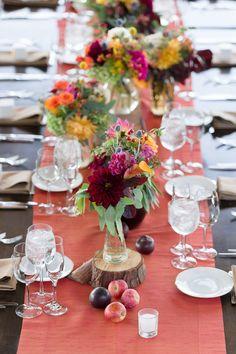 #tablescapes  Photography: Gavin Farrington Photography - gavinfarrington.com  Read More: http://www.stylemepretty.com/california-weddings/2014/04/30/rustic-fall-wedding-at-thomas-fogarty-winery/