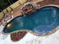 Pool Installation Midnight Breeze Wetedge Primera Stone Pool Installation, Breeze, Tub, Waterfall, Stone, Outdoor Decor, Home Decor, Pools, Mirrors