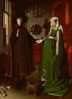 Van Eyck - Giovanni Arnolfini and his Wife (National Gallery, London / 1434)