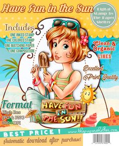 Have Fun in the Sun - Digital Stamp