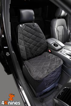 Bucket Seat Cover For Dogs and Pets For Cars Trucks and SUVs (Black)