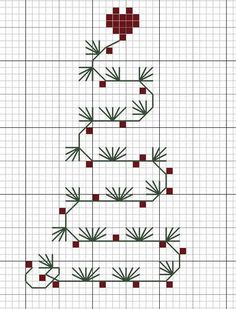 Free Christmas Cross Stitch Patterns | un sapin freebie