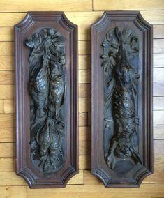 trophée de chasse nature morte bronze bécasse lièvre | eBay