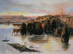 Buffalo Herd by Charles Marion Russell