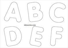 moldes de letras médias para imprimir 1