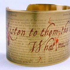 It's from Dracula, and it's got blood spatters on it. Are you kidding me? I want everything in this etsy shop.