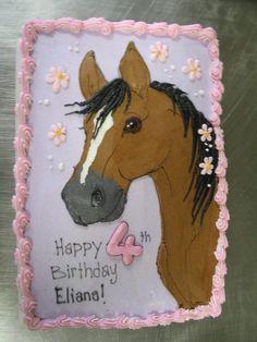 Cakes for girls on Pinterest | Owl Cakes, Horse Cake and Monster ...