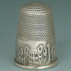 Antique Sterling Silver Abbotsford House Sir Walter Scott Thimble Circa 1850 | eBay