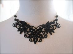 Check out this item in my Etsy shop https://www.etsy.com/listing/110279321/black-lace-necklace-victorian-choker