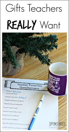 One simple way to make sure to get gifts teachers will love - includes a free printable and ideas for those teachers who love their coffee. Perfect for Room Moms and Dads in charge of teacher appreciation!   Sponsored.