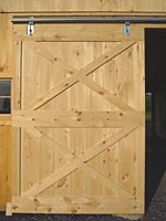 How to Build A Barn Sliding Door. I built a pair of these for my garage. The directions were easy to follow.