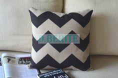 "Retro White Black Stripes Cross Pillow Case Decor Cushion Cover Square 18"" 45cm | eBay"