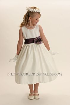 5287SPC - Flower Girl Dress Style 5287- SALE!! BUILD YOUR OWN DRESS! Choice of 139 Sash and 51 Flower Options! - Classic All Satin - Flower Girl Dress For Less