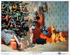 Christmas with Lady and the Tramp by Vintage-Stars, via Flickr -what a card!