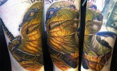 Leonardo Tattoo based on art by David Rapoza - Very cool, but I would have to get the Donatello version myself.
