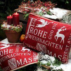 tolle Weihnachtskissen in rot-weiss