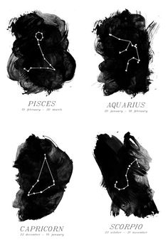 8.5x11 zodiac print choose your sign by GirlAndParrot on Etsy