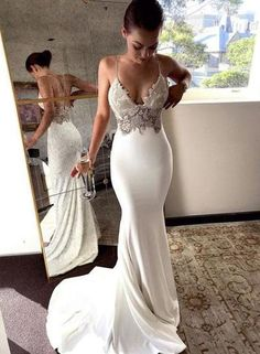 Charming Lace Sexy Backless Mermaid Jersey Prom Dresses from Ulass Prom Dresses Lace, Mermaid Prom Dresses, Prom Dresses Backless, Prom Dresses Sexy, Prom Dress Prom Dresses 2019 Backless Prom Dresses, Sexy Wedding Dresses, Mermaid Prom Dresses, Bridal Dresses, Wedding Gowns, Dress Prom, Maxi Dresses, Lace Wedding, Wedding Venues