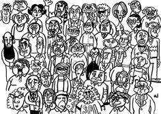 Gentes by pquebranta (2006), via Flickr Snoopy, Social Media, Fictional Characters, Draw, Social Networks