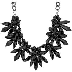 sweet deluxe VENEDIG Necklace ($59) ❤ liked on Polyvore featuring jewelry, necklaces, accessories, black, jewels, holiday jewelry, cocktail jewelry, jewel necklace, black jewelry and evening jewelry