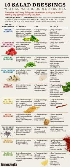 10 3-Minute DIY Salad Dressings You'll LOVE | Women's Health Magazine