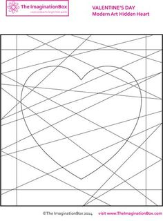 Valentine's Day coloring pages & art activities for upper elementary kids. - The Imagination Box Valentines Day Coloring Page, Valentines Day Activities, Valentines For Kids, Valentine Day Crafts, Heart Coloring Pages, Coloring Pages For Kids, Scribble Art, Valentine's Day Printables, Craft Projects For Kids