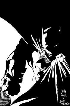This a piece of art from Son of the Bat, If memory serves. Andy being a Kubert fan I thu down some inks. Batman Andy Kubert n ME Inks I Am Batman, Batman Art, Batman Robin, Dc Comics, Batgirl, Catwoman, Batman Beyond, Batman Universe, Comic Artist