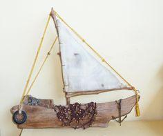 driftwood sailboat by irini v@m