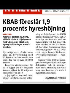 KBAB föreslår hyreshöjning på 1,9 procent. Oförskämt tycker Hyresgästföreningen.