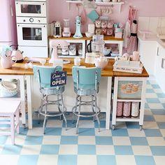 retro-küche in pastell!   pastell   pinterest   gläser, pastell ... - Pastell Küche