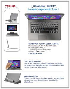 ¿Ultrabook, Tablet? ¡¡La mejor experiencia 2 en 1!!