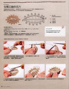 Ананасовый шарфик с цветками   Вязание для женщин   Вязание спицами и крючком. Схемы вязания.