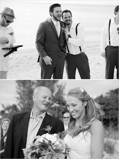 Happy soon-to-be husband and Father of the Bride at our beach ceremony