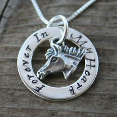 Horse Memorial Jewelry - Horse Loss - Pony and Horse Sympathy Gifts