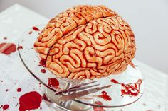 """Yolanda Gampp, known for her incrediblecreations on YouTube, has created a Brain Cake inspired by TV series The Walking Dead, and it looks sufficiently scary/delicious for you to try this Halloween. The ingredients you need for the brain cake are: Red velvet cake (makes one 8""""round pan cake) 3/4 cup unsalted butter, at room temperature 1/4 cup vegetable oil 2 1/4 cups sugar"""