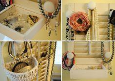 Thrift My House: Shutter Jewelry Organizer