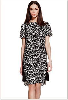 Aliexpress.comessence hua's storeで信頼できる ドレスマタニティ サプライヤ から メスストレートプリントm&s湿地のピース  1スリットネックラインドレス短い  スリーブt692202iスリム を購入します。