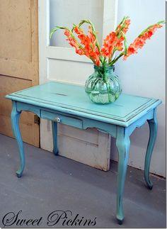 glazed aqua furniture ideas