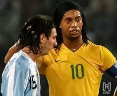 Messi and Ronaldhino.