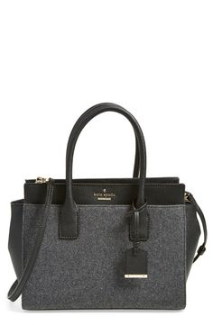 The heather grey flannel and the structured shape of this Kate Spade satchel makes it the perfect go-to bag for fall.