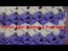 Puntada a crochet muy fácil en dos colores.Muestra No. 130 - YouTube