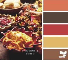 Palette de couleurs feuilles d'Automne