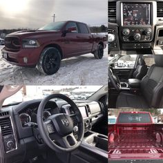 2018 'Red Pearl' Ram 1500 Sport 4x4.  BLUETOOTH. HTD SEATS. TOUCHSCREEN. Stock 18068.  Click pic for more info.