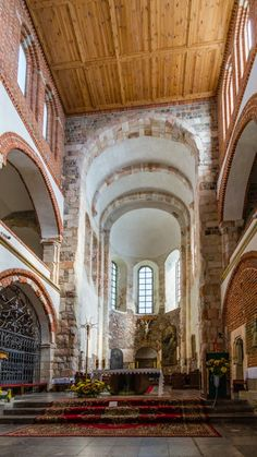 The interiors of the collegiate church of St. Mary and St.. Alexius, Tum near Leczyca, Poland