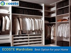 Transform your #Wardrobes & Give your #Home Best Look - http://www.ecoste.in/