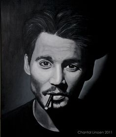 Portrait of Johnny Depp    Acrylics on cotton canvas  50x60 cm